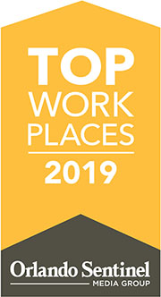 Orlando Sentinel Top Work Places 2019