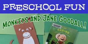 Preschool Fun: Monkeys and Jane Goodall!
