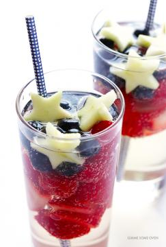 Sparking Red, White and Blue Sangria
