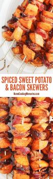 Spiced Sweet Potato and Bacon Skewers